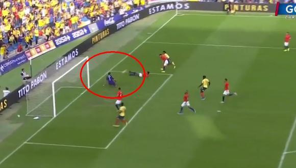 Colombia vs. Chile: Claudio Bravo reapareció en 'La Roja' evitando el 1-0 de Cuadrado. (Foto: captura de Gol Caracol)