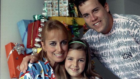 Gian Marco, Regina Alcóver y Mía, su hermana. FOTO: Archivo revista Somos.