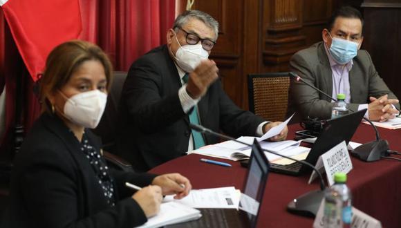 La comisión especial del TC es presidida por Rolando Ruiz (Acción Popular). El vicepresidente es José Vega (UPP) y la secretaria, Tania Rodas (APP). Esta última fue retirada por su bancada. (Foto: Congreso)