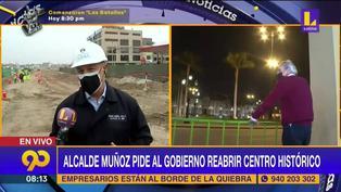 Alcalde Jorge Muñoz pide al Gobierno quitar las rejas de la Plaza Mayor de Lima