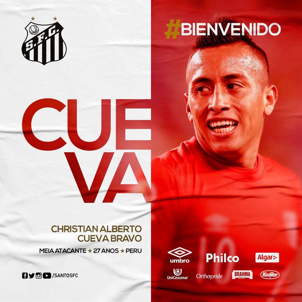 Así presentaron a Christian Cueva. (Foto: Santos).