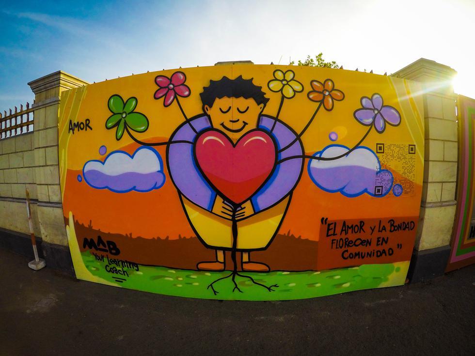 """la Fundación BIK, organización que lucha contra la violencia en niños y mujeres, instaló un proyecto artístico llamado """"Los muros de la bondad"""".(Foto: Difusión)"""