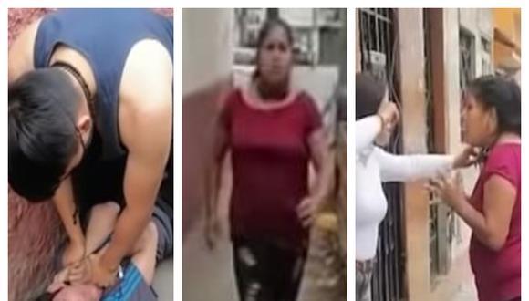 El ladrón fue atrapado y reducido por uno de los vecinos de San Martín de Porres, pero escapó al intervenir su madre. (Foto: Captura Buenos Días Perú)