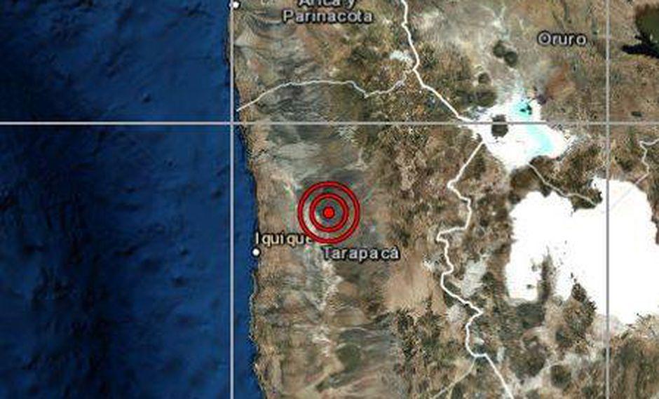 Un sismo de magnitud 5,1 se registró en Tacna esta mañana a las 8:43 a.m. (Captura: IGP)
