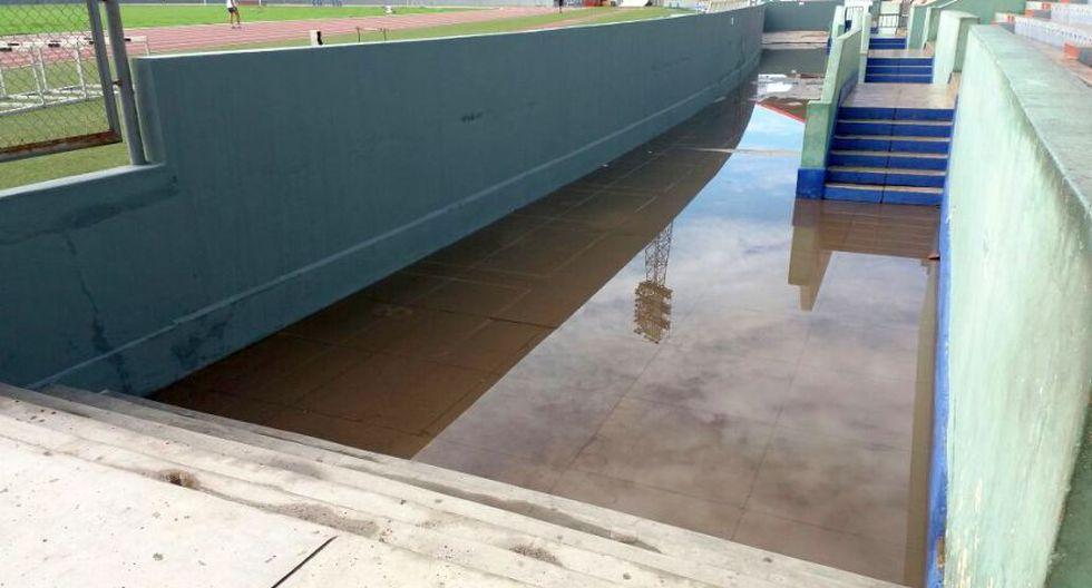 El estadio Mansiche también se inundó. (Foto: Johnny Aurazo)