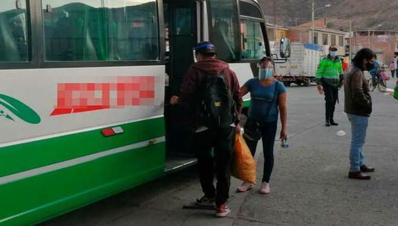 Uno de los lugares donde intervino el Ministerio Público fue el terminal terrestre en Carhuaz. (Foto: Ministerio Público)