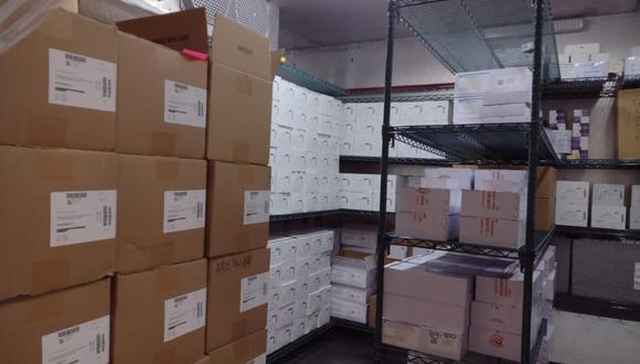 A inicios de semana, 110.000 dosis de la vacuna DT (difteria y tétanos) llegaron a los almacenes del Sismed de la Diremid en Arequipa. (Foto: Zenaida Condori)
