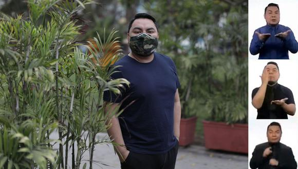 En febrero pasado Piscoya se contagió de coronavirus y tuvo que ausentarse durante más de un mes de sus labores como intérprete de lengua de señas en TV Perú.