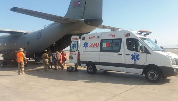 La menor fue trasladada este lunes a Lima en una aeronave de la Fuerza Aérea del Perú (FAP).