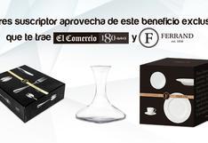 Ferrand, viste tu mesa elegante con estos productos de lujo.