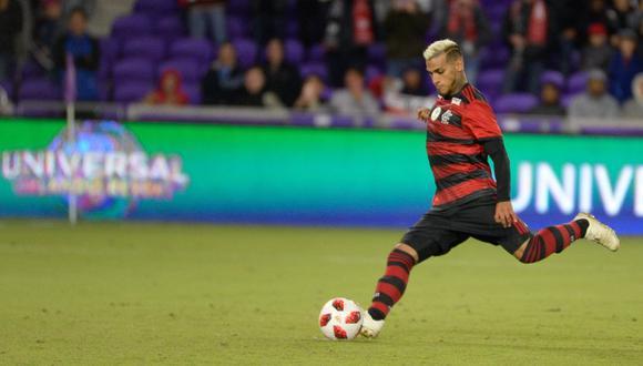 Miguel Trauco dio la asistencia para el único gol de su equipo. (Foto: Flamengo)