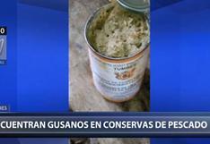 Tumbes: denuncian presencia de gusanos en latas de atún de un comedor   VIDEO