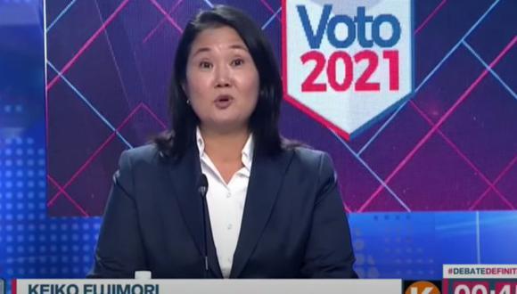 Keiko Fujimori, candidata de Fuerza Popular. (Captura: América TV)