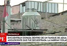 Ventanilla: Policía ubica dentro de tanque de agua a adolescente reportada como desaparecida