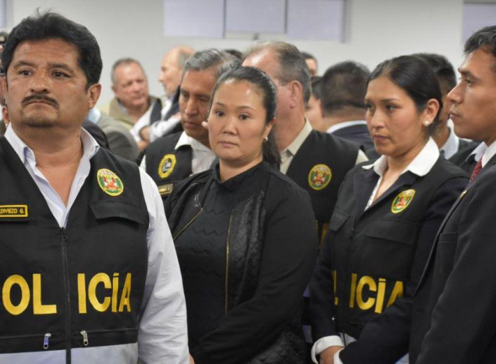 Keiko Fujimori pasó la noche en la carceleta del Poder Judicial. (Foto: Difusión)