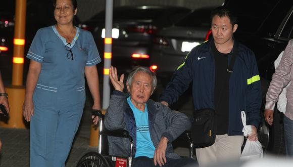 6. Alberto Fujimori (17%). El Poder Judicial revocó el indulto que se le otorgó en diciembre de 2017. Tras conocerse la noticia, permanece internado en una clínica local. (Foto: Alessandro Currarino / El Comercio)