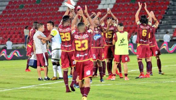 Tolima venció 3-0 a Once Caldas y se mantuvo como el líder de la Liga Águila | Foto: Tolima