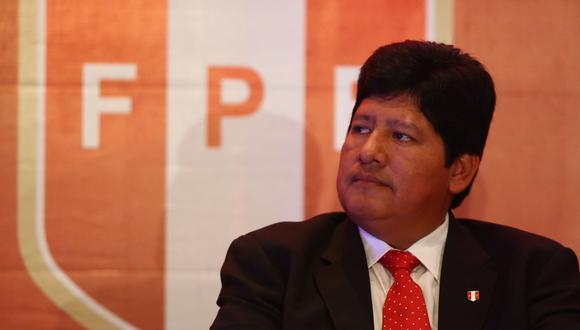 """Edwin Oviedo, presidente de la FPF: """"No tengo tiempo para pensar en la reelección"""". (Foto: El Comercio)"""
