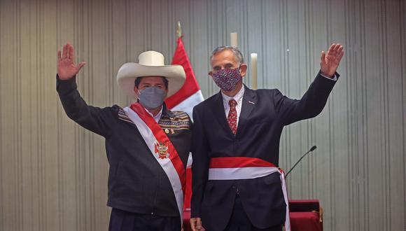 Pedro Francke tomó juramento como nuevo ministro de Economía y Finanzas del gobierno de Pedro Castillo. (Foto: Presidencia Perú)