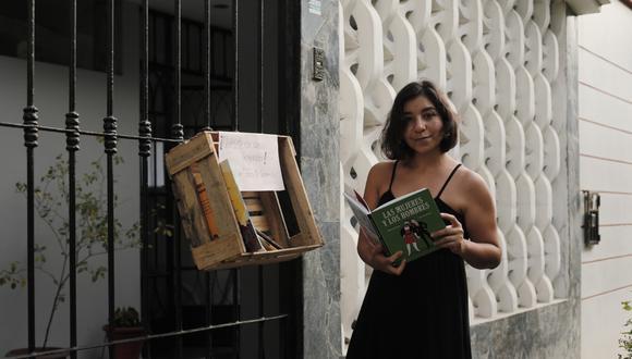Josefina creo la 'Biblioteca de la Confianza' para que las personas puedan acceder a un libro gratuitamente. (Foto: Leandro Britto/GEC)