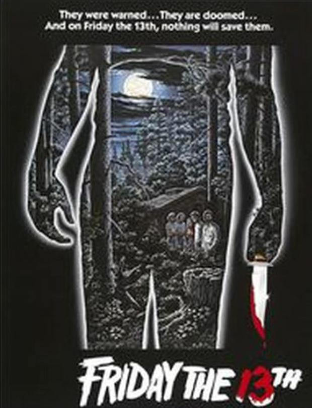 The original promotional poster for the movie Friday The 13th Paramount Pictures.