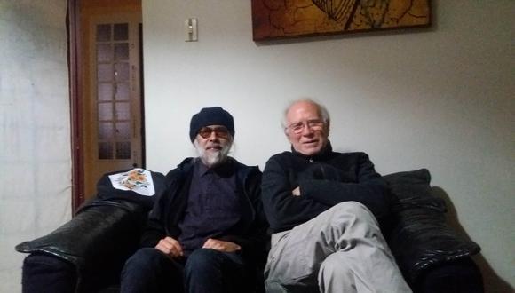 """Juan Luis Dammert y Pochi Marambio, uno de sus cómplices en su nuevo disco """"Más o monos"""""""
