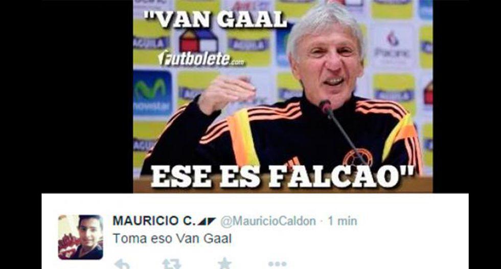 Van Gaal y los memes tras los dos goles de Falcao con Colombia - 2