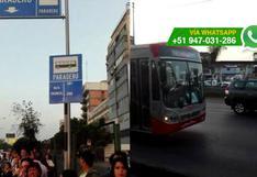 Corredor Javier Prado: bus de MML no respeta paradero [VIDEO]