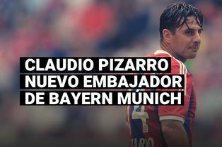 Claudio Pizarro ha sido nombrado nuevo embajador de Bayern Múnich