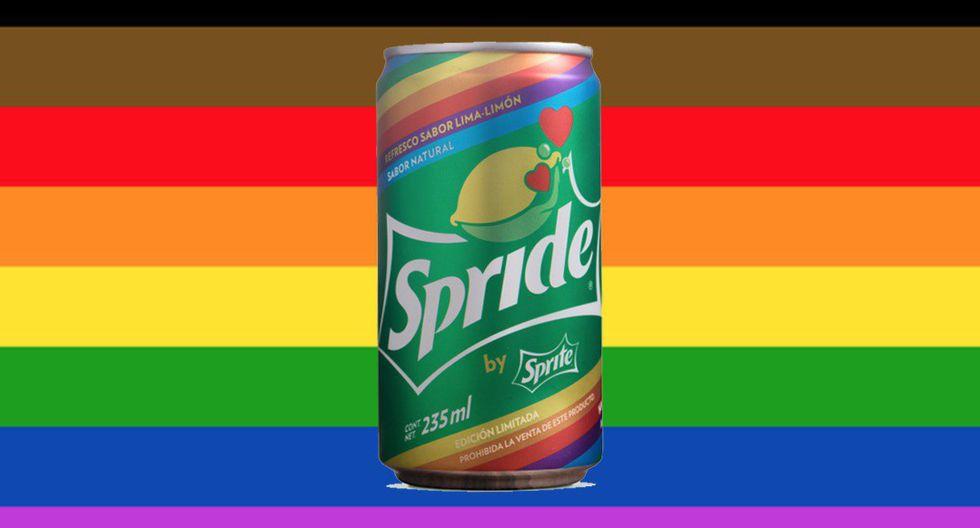 """En México, Sprite, de la compañía Coca-Cola, lanzó una versión 'Pride' de su bebida bajo el nombre de """"Spride"""" y la distribuyó en forma gratuita en la Marcha del Orgullo LGBT que se llevó a cabo en la Ciudad de México el 23 de junio."""