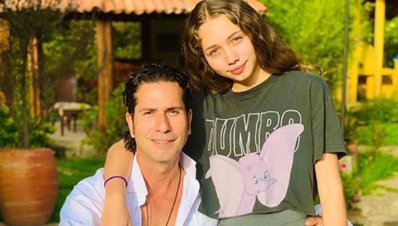 Gregorio Pernía junto a su única hija, Luna del Mar (Foto: Instagram)
