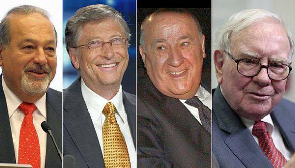 Los 300 más ricos del mundo ganaron US$524.000 millones en 2013