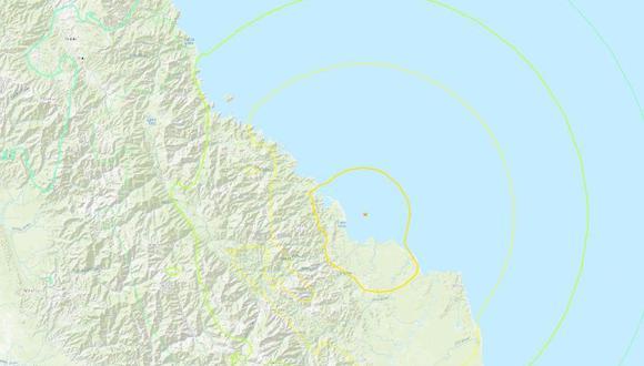 Terremoto de magnitud 7,0 golpea Papúa Nueva Guinea y provoca alerta de tsunami. (USGS).