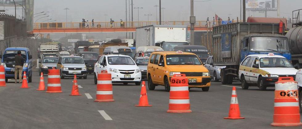 Así está el tráfico por obras de Vía Parque Rímac [FOTOS] - 4