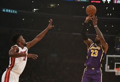 Con 25 puntos de LeBron James, Lakers venció 95-80 a Miami Heat en el Staples Center por la NBA