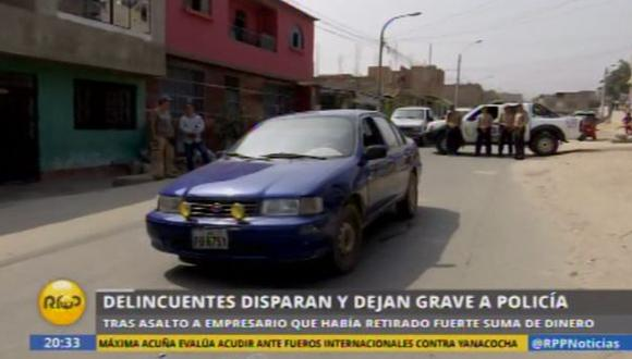 San Juan de Lurigancho: policía fue baleado en robo de 'marcas'