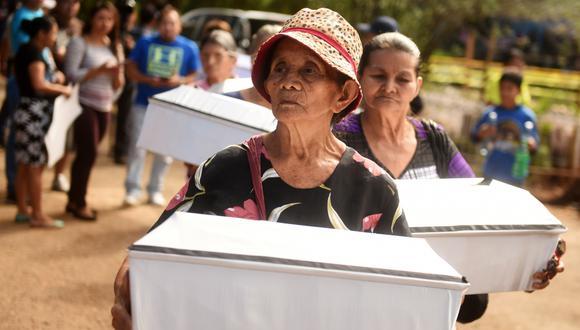 Unas 1.000 personas, en su mayoría niños, murieron durante la masacre de El Mozote 1981. (AFP).