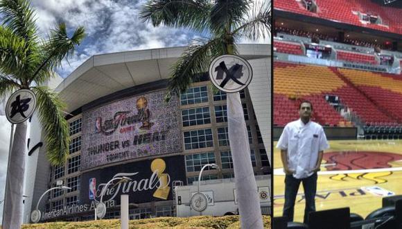 Sabor peruano en el partido de los Miami Heats
