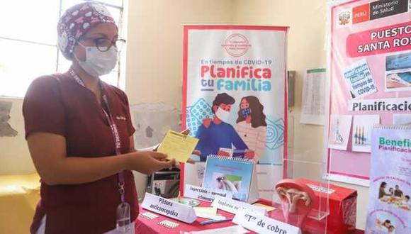 El servicio de planificación familiar no se detuvo a pesar de la pandemia por la COVID-19 y aseguró la provisión de los métodos anticonceptivos a las parejas | Foto: Ministerio de Salud