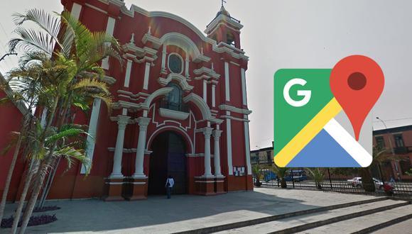 Este 30 de agosto puedes recorrer la iglesia de Santa Rosa de Lima gracias a Google Maps y sin salir de casa. (Foto: Google)