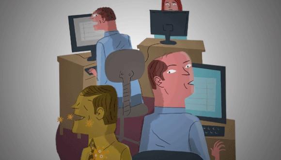 El trabajo remoto sólo es el primer escalón de un largo proceso de cambio de la jornada laboral como la conocemos hoy día. (Ilustración: El Comercio)