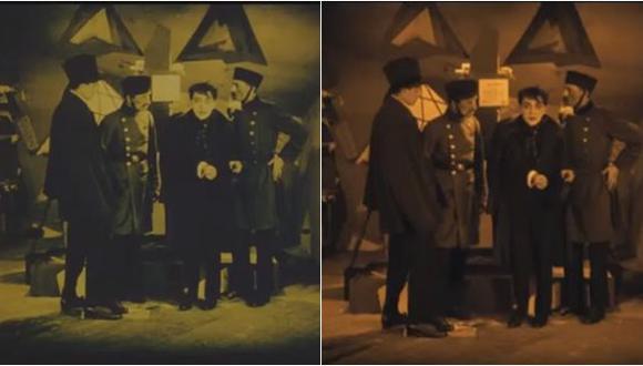 """""""El gabinete del Dr. Caligari"""", clásico alemán mudo cumple 100 años. (Captura de pantalla)"""