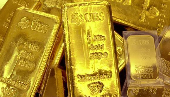 El oro al contado subía 0,2% a US$ 1.840,96 la onza las primeras horas de este miércoles. (Foto: AFP)