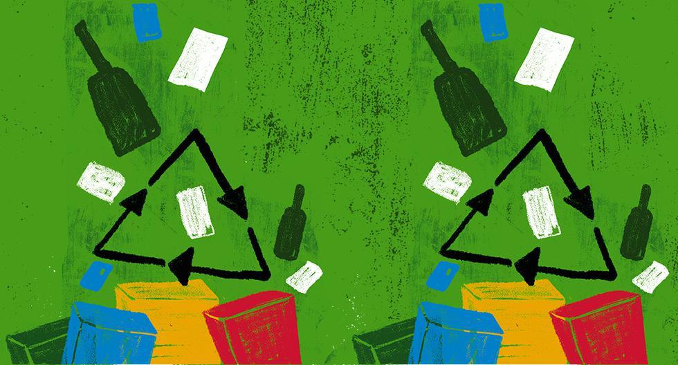 Durante la pandemia, el reciclaje se vio afectado de diferentes maneras. La emergencia sanitaria mundial hizo el escenario más complicado. (Ilustración: Giovanni Tazza)