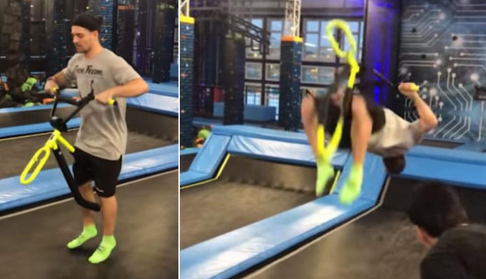 El joven estaba confiado en que podía hacer la maniobra sin problemas. (YouTube: Caters Clips)