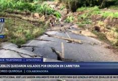 Amazonas: más de 20 centros poblados quedaron aislados por deslizamiento de masa   VIDEO