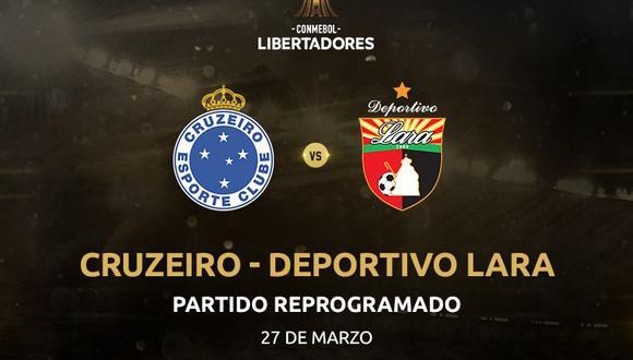Cruzeiro vs. Deportivo Lara jugarán el 27 marzo por la fecha 2 del grupo B de la Copa Libertadores en el estadio Mineirão de Belo Horizonte. (Foto: Conmebol).