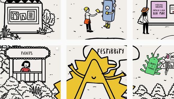 Festibbity es el festival interactivo para Instagram creado por la diseñadora Adriana Galbani. Pueden encontrarlo como @festibbity y disfrutar de conciertos, postres y souvenirs.