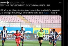 Alianza Lima: así informó la prensa internacional sobre el descenso de los blanquiazules a la Liga 2