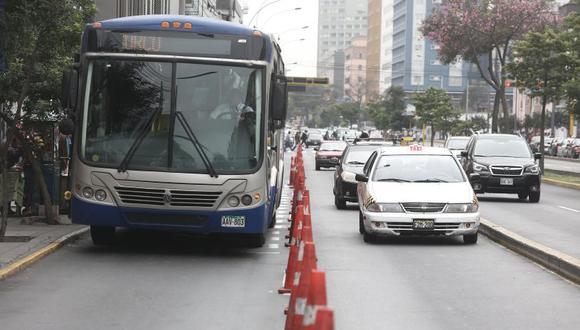 Los usuarios deberán tomar sus previsiones para no verse afectados por el desvío de rutas. (El Comercio)